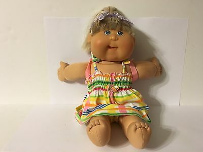 "Xavier Roberts 2004 Play Along 17"" Cabbage Patch Doll Blonde Hair Blue Eyes"