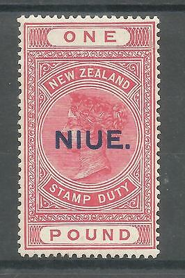 NIUE (NEW ZEALAND) SG37c THE 1916-27 VICTORIAN £1 ROSE PINK FRESH MINT C.£160