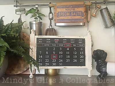 50cm Long Solid Wood Blackboard Style Magnetic Perpetual Everlasting Calendar
