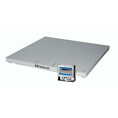 """Brecknell Dcsb Low Profile Deluxe Display Pallet Scale 48"""" X 48"""" 5000 Lb X 1 Lb"""