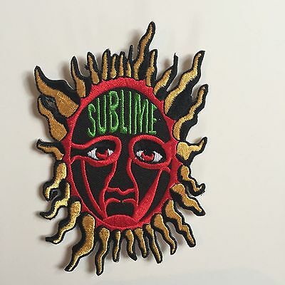 Sublime Sun Embroidered Patch Iron on or Sew on