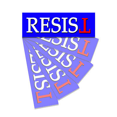 Resist - Anti Trump - Bumper Sticker Decal Not My President Sticker - 5 Pack DND