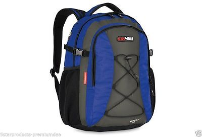 NEW BLACK WOLF WOODY 30L DAY PACK OUTDOOR HIKING TRAVEL SCHOOL BACKPACK BAG Blue