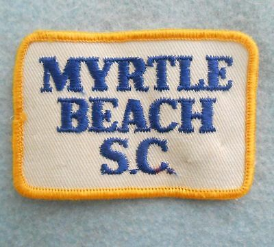 "Myrtle Beach SC Patch - vintage - South Carolina - 2 7/8"" x 2"""