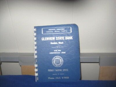 Glenview State bank 1961-62 address book Glenview Illinois