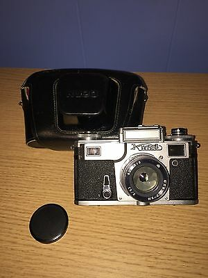 Kiev-4 Soviet rangefinder camera w/ Jupiter-8M 2/50 50mm f2 lens + Carry Case