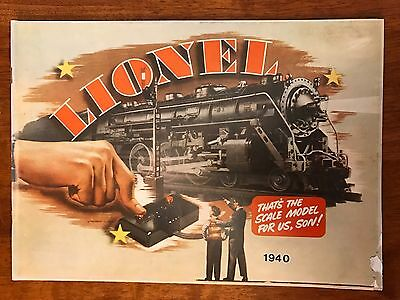 1940 Lionel Electric Train Catalog 1975 Reproduction
