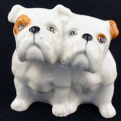 "Bull Dogs PAIR NEW IN BOX figurine 2"" TALL porcelain Made in England BESWICK"