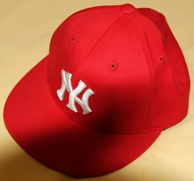 210 By Flexfit Fitted New York Yankees  -Embroidered Peaked Hat/cap - As New