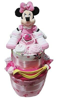 MINNIE MOUSE NAPPY CAKE Girl Baby Shower Quality Hamper Gift (HAM180) NEW