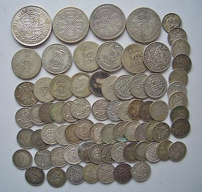 Lot 73 Silver Uk Coins Old 3 6 Pence Uk  Silver Lot Uk Silver Coins