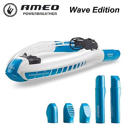 AMEO Powerbreather Wave Edition Diving Snorkels Snorkeling Swim Training