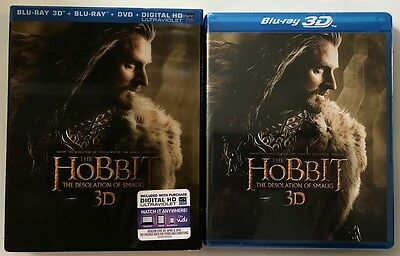 New Hobbit The Desolation Of Smaug 3D Blu Ray Dvd Digital Lenticular Slipcover