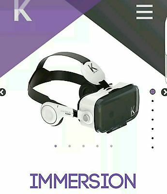 Kepler-Vr Immersion Goggles Smartphone Virtual Reality Headset Brand New In Box