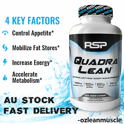 RSP Nutrition QuadraLean 150 Capsules|Weight Loss|Fat Burner|CLA|L-Carnitine HCL