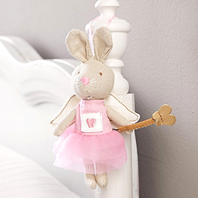 Mud Pie® Tooth Fairy Pillow Bunny Girl Best Fun Baby Keepsakes Announcement NEW