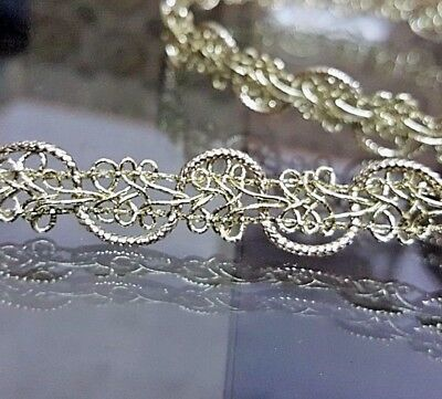 1.2cm- 1 meter high quality gorgeous gold braid lace trimming ribbon for crafts