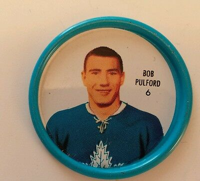 Shirriff Blue Metal Hockey Coin #6 Bob Pulford Stanley Cup Champions For 1961-62