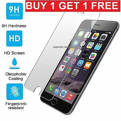 100% Genuine Tempered Glass Film Screen Protector For Apple Iphone 7 Plus - New