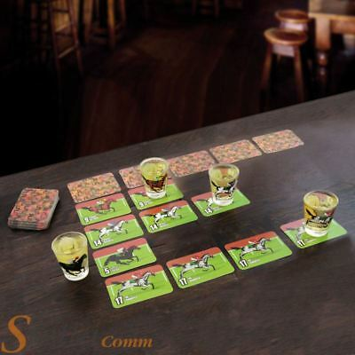 Paladone Drinking Derby Adult Horse Racing Party Game With 4 Shot Glasses