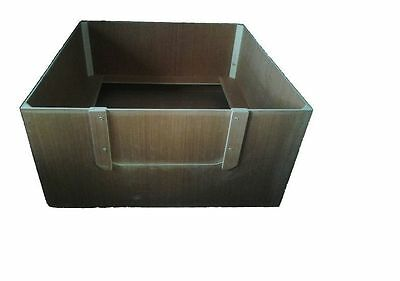 "WHELPING BOX 48"" x 48"" x 18"" 9ml weather proof ply partially assembled re-usable"