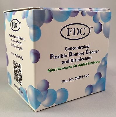 Flexible Denture Cleaner FDC - 1 Box of 12 Sachets 3 Months Valplast Cleaning
