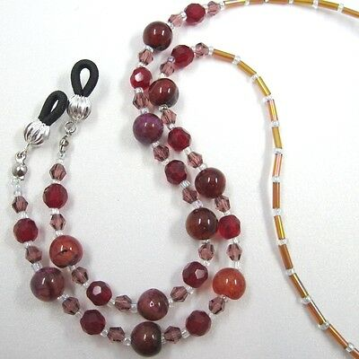 Agate Sunglasses Eyeglass Spectacles Glasses Cord Holder Strap Chain Necklace