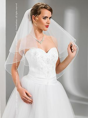 """2 Tier White / Ivory Wedding Prom Bridal Veil With Comb 51"""""""