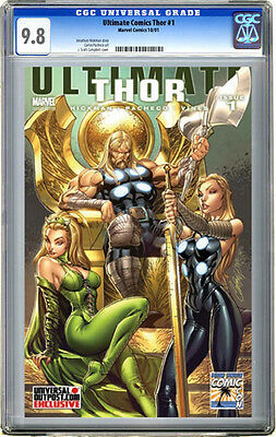 ULTIMATE THOR #1 J. Scott Campbell LBCC Variant CGC 9.8 Universal Outpost