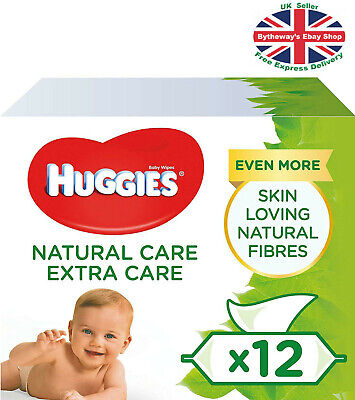 Huggies Natural Care Baby Wipes - 12 Packs (672 Wipes) *BRAND NEW*