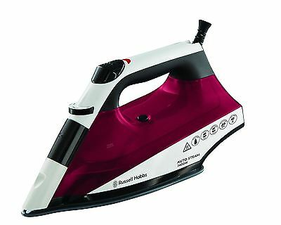 Russell Hobbs 22520 Auto Steam Pro Non-Stick Iron 2400W Ceramic Irons Red NEW