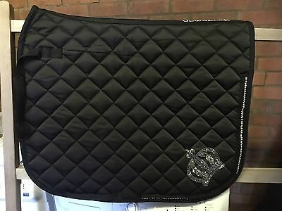 Beautiful HKM Royal Gloockler Crown Full size Dressage pad - Excellent condition