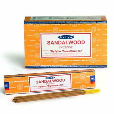Satya Nag Champa Sandalwood Fragrance Incense Stick Aroma Dhoop Joss Stick