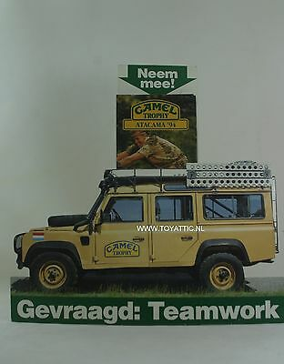 Camel Trophy 1994 store display shop display land rover and application leaflets