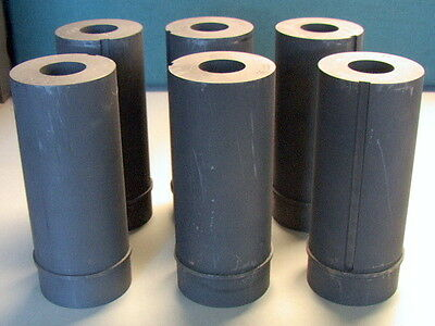 LOT OF 6 EDM GRAPHITE PRE-MACHINED CYLINDRICAL PIECES left overs