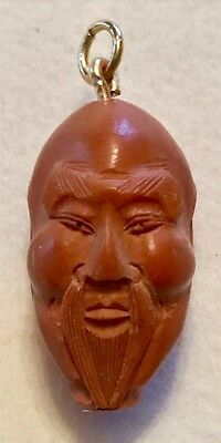 Antique Chinese Qing Dynasty Prayer Bead Hand Carved Hadiao Nut Monk