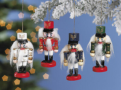 12 Wooden Old World Style Nutcracker Christmas Tree Ornaments