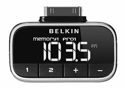 Belkin TuneFM iPod iPhone FM transmitter High-contrast backlit display F8Z179ea