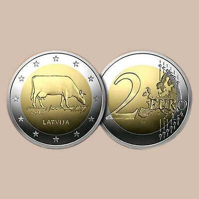 25 X 2 euro coin roll Latvia cow  New UNC uncirculated commerative 2016