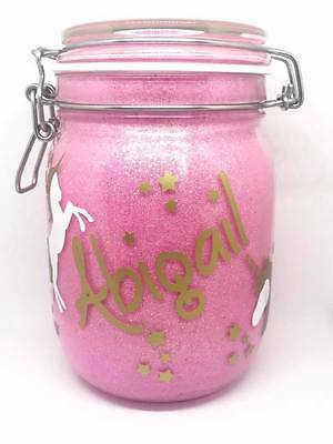 Personalised Unicorn Glitter Night Light Jar