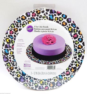 Lot(3) Wilton Cake Boards 12-in Round pk 3