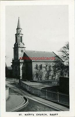 Real Photographic Postcard Of St. Mary's Church, Banff, Banffshire, Scotland