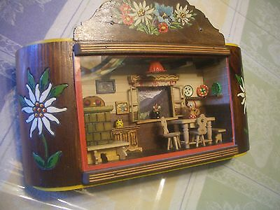 """Wow! Country Dollhouse """"antique"""" Music Box, Shadow Box, Magnificent, L@@k, Read!"""
