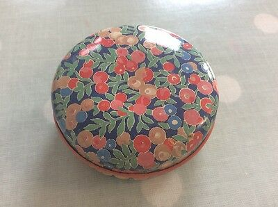 Liberty of London small Tin, vintage early 1980's,  6.5cm appr diameter cherries
