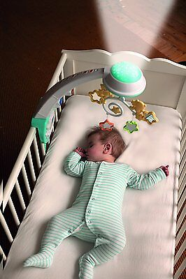 Fisher Price Cot Mobile Musical Baby Babies Infants Music Night Light Projector