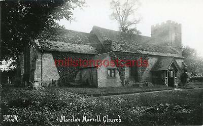 Real Photographic Postcard Moreton Morrell Church (Near Stratford), Warwickshire