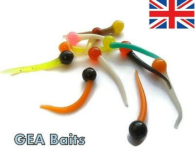 12 X 45 mm Soft Rubber Lures For Drop Shot Jig Perch Pike Trout
