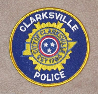 "Clarksville Police Dept Shoulder Patch - Tennessee - 3 7/8"" x 3 7/8"""
