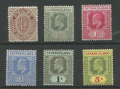Cayman Islands 1908-9 Evii Selection To 5/- Mounted Mint Cat £68+