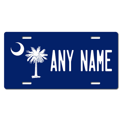 Personalized South Carolina License Plate for Bicycles, Kid's Bikes & Cars Ver 3